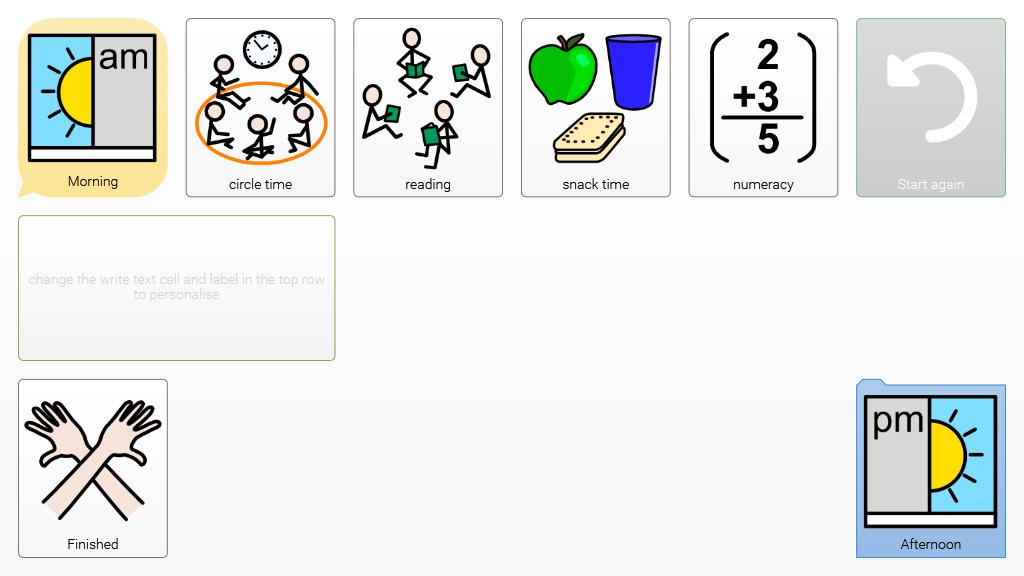 Visual Timetable Widgit Online Grids